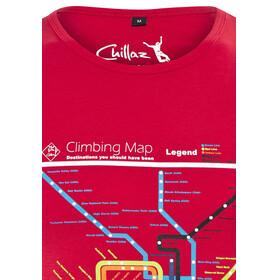 Chillaz Calanques Maps - Haut sans manches Homme - rouge